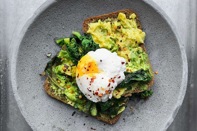 eggs and avocado toast